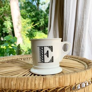 Anthropologie Monogram Letter E Mug